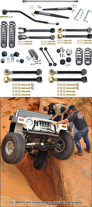 Currie Enterprises 97-06 Jeep Wrangler TJ (Short Wheel Base) Suspension System W/ Antirock - No Shocks