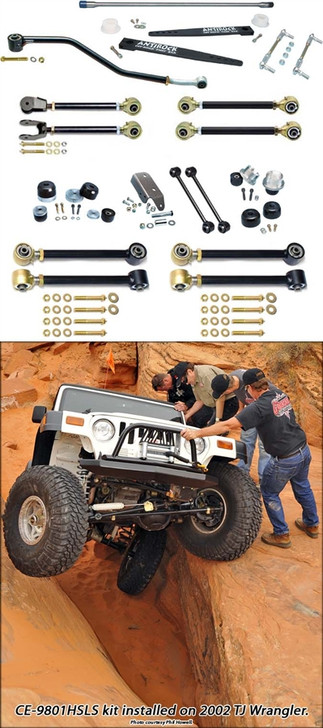Currie Enterprises - 97-06 Jeep Wrangler TJ (SWB) and 04-06 Wrangler Unlimited LJ (LWB) Suspension System W/ Antirock - Double Adjustable Upper Arms - No Shocks - No Springs