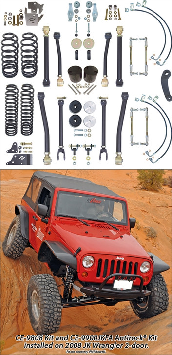 Currie Enterprises 07-13 Jeep Wrangler (JK) Suspension **2DR** With F/R Adjustable Swaybar Links - Kit