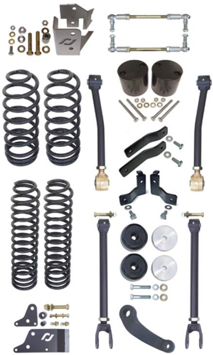 Currie Enterprises 07-13 Jeep Wrangler (JK) Suspension System **2DR** Includes Springs, Upper Adjustable Arms, Brake Line Bracket, Trackbar Relocation, P/A, Rear Swaybar Links, F/R Bumpstops