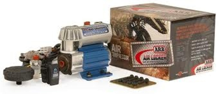 At less than half the weight of other compressor kits, this system is ideal for competition vehicles, rock crawlers, or any other vehicle where a compact, light weight, and quick installing design is needed! The compressor features fully sealed components, pressure switch controlled air manifold system, hard anodized cylinder bore with carbon fiber piston rings, relocatable air filter assembly, ball bearing equipped rotating components, and the low current draw of 5 amps at no load and 6.5 amps at full load means it will run on the 12 volt accessory supply of most 12 volt and 24 volt vehicles. Kit includes fully assembled and tested 12 volt compressor, complete wiring loom with air locker solenoid plug-in contacts, switches, air filter, mounting hardware, and comprehensive photo-illustrated installation guide.