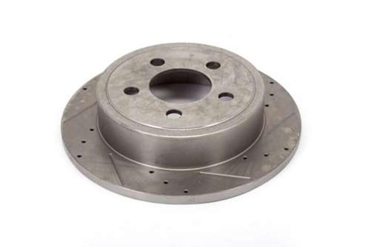 Alloy USA Brake Rotor Pair Slot/Drilled