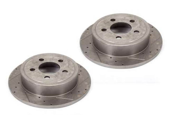 Alloy USA Brake Rotor Pair Slot/Drilled 4