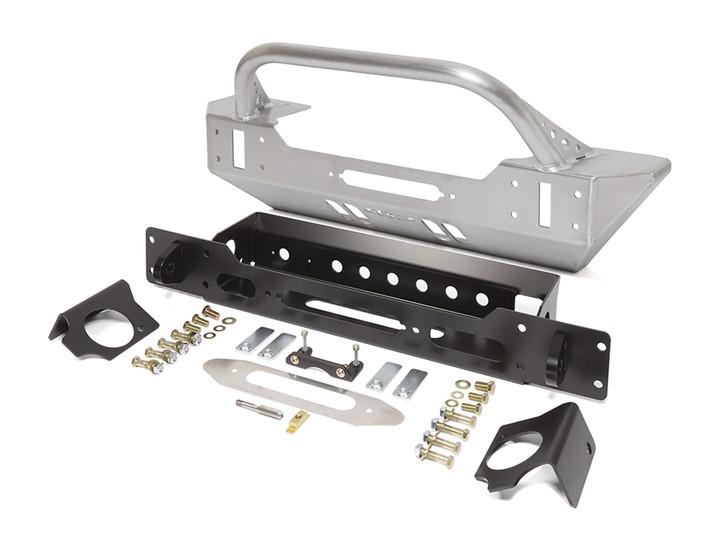 GenRight JK Low Profile Winch Guard Front Bumper - Aluminum FBB8345
