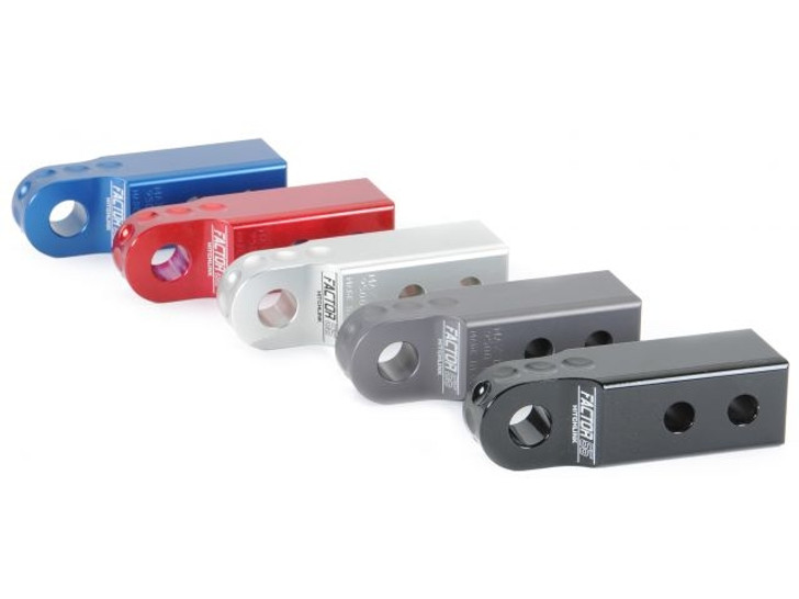 Use your receiver as a recovery tow point.Lightweight precision CNC machined 6000 series aluminumWeighs only 1.9 pounds. Steel versions weigh up to 8 poundsRated at 9500 poundsUltimate failure at 51,000 poundsFits standard 2 inch receiversFits common ¾ screw pin shackles/D-RingsAnodized or powder coated for oxidation protection
