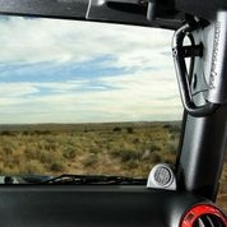 """Wish you had some help getting in and out of your Jeep other then grabbing the steering wheel? Look no more... Our 3/4"""" solid steel (not tubing) front GraBars are perfect for getting in & out of your Jeep, or for holding on while going down a trail!. We build these handles to last for the life of your Jeep! Handles come in pairs (2), and will fit all 2007-2013 JK & JKU Wranglers. (Powder-Coated in Black - with Grade 12 Black Steel Mounting Bolts Included) Our GraBars do not require drilling, or modifying the Jeep in anyway, and easily install within minutes! Because they are solid steel they don't sway back and forth like other grab handles being offered by other vendors, and they are not in your way when getting in and out of the Jeep. NOTE: This product has a Lifetime Warranty and Built in The United States of America, Keeping our Jobs at Home! NOTE: Some images show """"optional grips"""" & GoPro camera installed. (This is for photo purposes only, grips are an option)"""