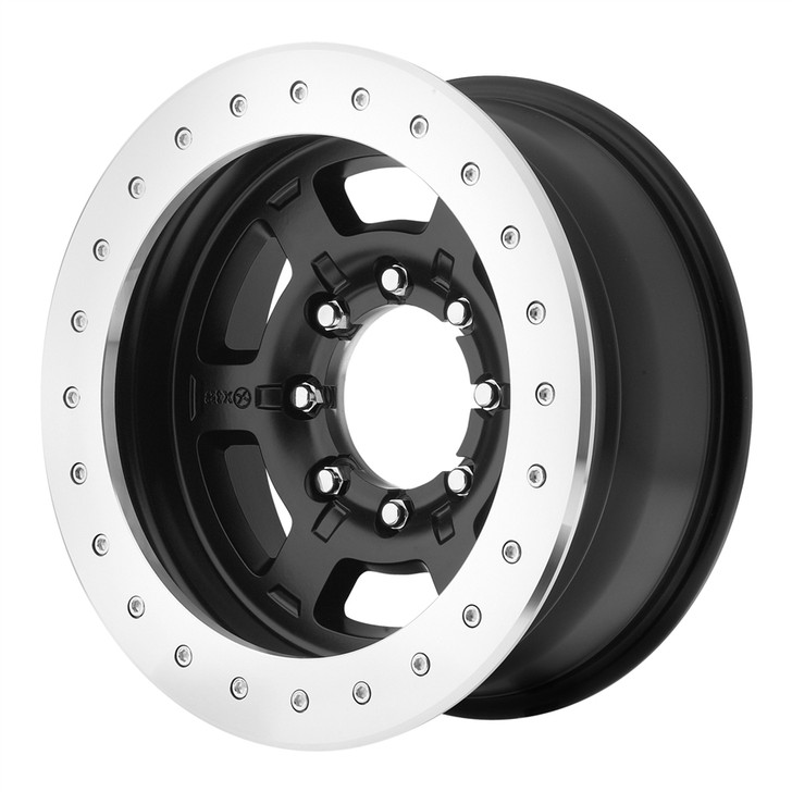"""The Chamber Pro II is a rugged six-spoke true beadlock wheel cast from A356-T6 aluminum.AMERICAN RACING ATX SERIESAX757 CHAMBER PRO IICOLORBlack Teflon CoatedSIZE OFFSET 17"""" x 9 -24mmSize 17"""" x 9"""" with backspacing of 4.06 It features an inner bead reinforcement that substantially strengthens the wheel. Its dual valve stem setup allows the owner to monitor air pressure out on the trail while airing up or airing down. The beadlock ring is manufactured from 3/4-inch billet 6061 T-6 aluminum and the underside features a vertical ribbing that helps keep the tire from slipping under extreme conditions. The ring is attached to the wheel using Grade 8 zinc-plated 3/8 socket-head hardware that, when mounted, is flush with the ring."""