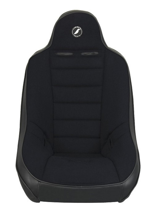 The Baja Ultra Off Road Suspension Seat was designed for the off road enthusiasts who want the safety of suspension and the comfort of Corbeau. We integrated our state-of-the-art suspension technology with the comfort and design that Corbeau is known for, and from that came the Baja Ultra Off Road Suspension Seat. Our expertise on comfort and our experience with performance seats is what makes the Baja Ultra one the most advanced suspension seats on the market today. The Baja Ultra is the big brother to the Baja SS Seat. It is four inches taller and one inch wider. The Baja Ultra Off Road Seat will enhance not only the look of your vehicle but also the overall driving experience. As a rule of thumb, the Baja Ultra Off Road Seat will fit up to a 36-38 inch waist while the Baja Ultra Wide will fit up to a 42 inch waist. The Baja Ultra Off Road Suspension Seat is available in all vinyl and vinyl/cloth fabrics.