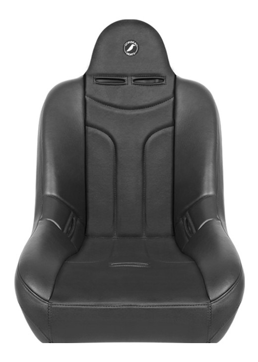 "The Jeep® community has spoken and we have listened. We are excited to introduce our all-new Baja JP Suspension Seat. This seat is a direct bolt in to most CJ5's, and all CJ7's and YJ's. Please note the stock CJ mounting brackets have a steep angle to them. When bolting the Baja JP seat to the factory brackets it will put the seat in an extreme reclined position. If this is not comfortable for you we recommend using our mounting brackets to level the seats back out. The Baja JP will fit in any other vehicle with Corbeau Custom Brackets. What makes this seat special is the strategic bolstering. We made just enough bolster support to hold you in place and provide ultimate comfort but at the same time making it easy to get in and out of your vehicle. For those of you with lifted vehicles, you will love this feature! The Baja JP is equipped with the state of the art Corbeau Suspension System. This system has proven to provide superior cushioning and significant energy return upon impact. The suspension system creates somewhat of a trampoline effect, which absorbs the impact your back would otherwise endure. The Baja JP Off Road Suspension Seat will fit up to a 38"" inch waist and the Wide will fit up to a 42"" waist. The Baja JP is available in all black vinyl or black vinyl/cloth fabrics."