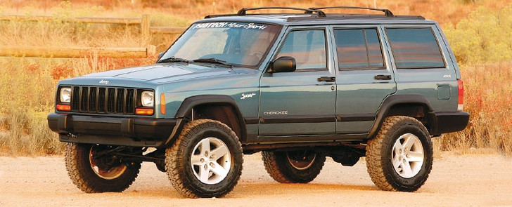 """The 4"""" Performance System includes heavy wall tubular lower links with our rotational urethane joints for superior articulation with a noise free highway ride. Included are smooth ride front coil springs, bump stops and extended sway bar links. Rear lift is accomplished via a 2"""" add a leaf combined with a heavy duty shackle system. For exceptional offroad performance order our optional upper link kit and sway bar disconnect links.Kit# K4026Use 31/10.50R15 tires w/ 15x7 wheels w/ 3 3/4"""" BS w/ minor trimmingOty Part # Description1 FTS24011BK Component Box2 FTS7170 Front Performance Shocks2 FTS6000 Rear Performance Monotube Shocks*FOOTNOTES59. Jeeps with 13"""" long rear driveshaft will require lengthening. Jeeps with double offset joint (rubber boot) front driveshaft must be replaced with Spicer CV type."""