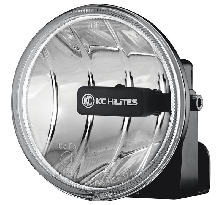 "Gravity LED G4; Universal 4"" Round LED Replacement Single Fog Light - KC HiLiTES #1493 (Clear)"