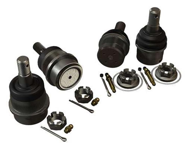 JK/JKU HD Dana 30/44 Upper & Lower Ball Joint Kit w/ Knurl - Set of 4