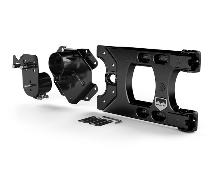 JK/JKU Alpha HD Hinged Spare Tire Carrier & Alpha HD Adjustable Spare Tire Mounting Kit - Complete - 4838150