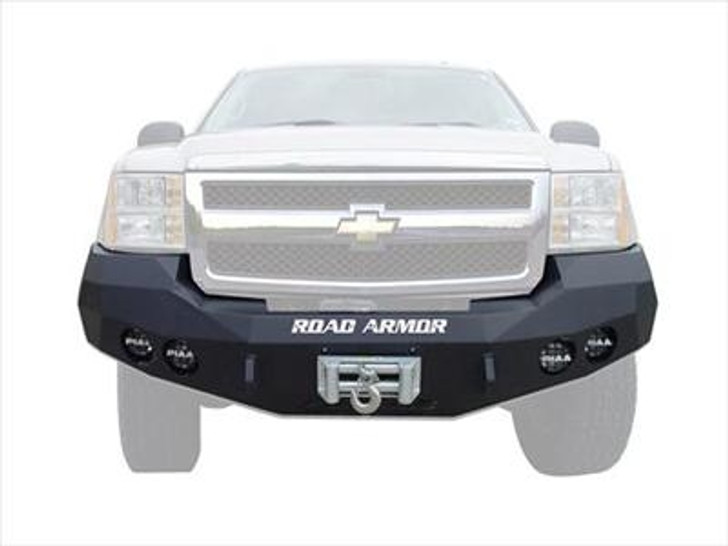 Road Armor Front Stealth Winch Bumper, Satin Black 2