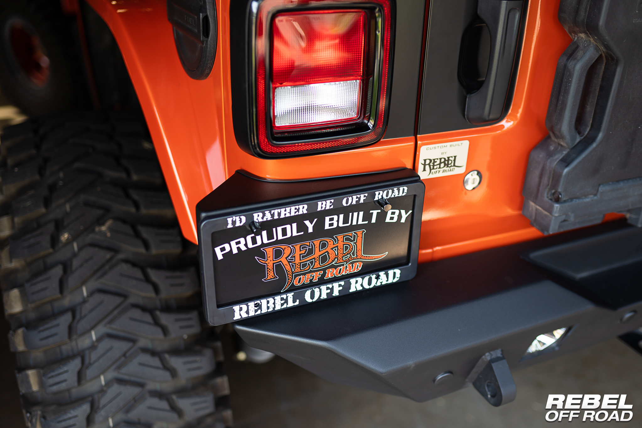 License Plate Mount Upgrade For Jeep Wrangler JL