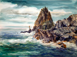 Blue Fishing Pinnacle Rock, Bailey Island Maine