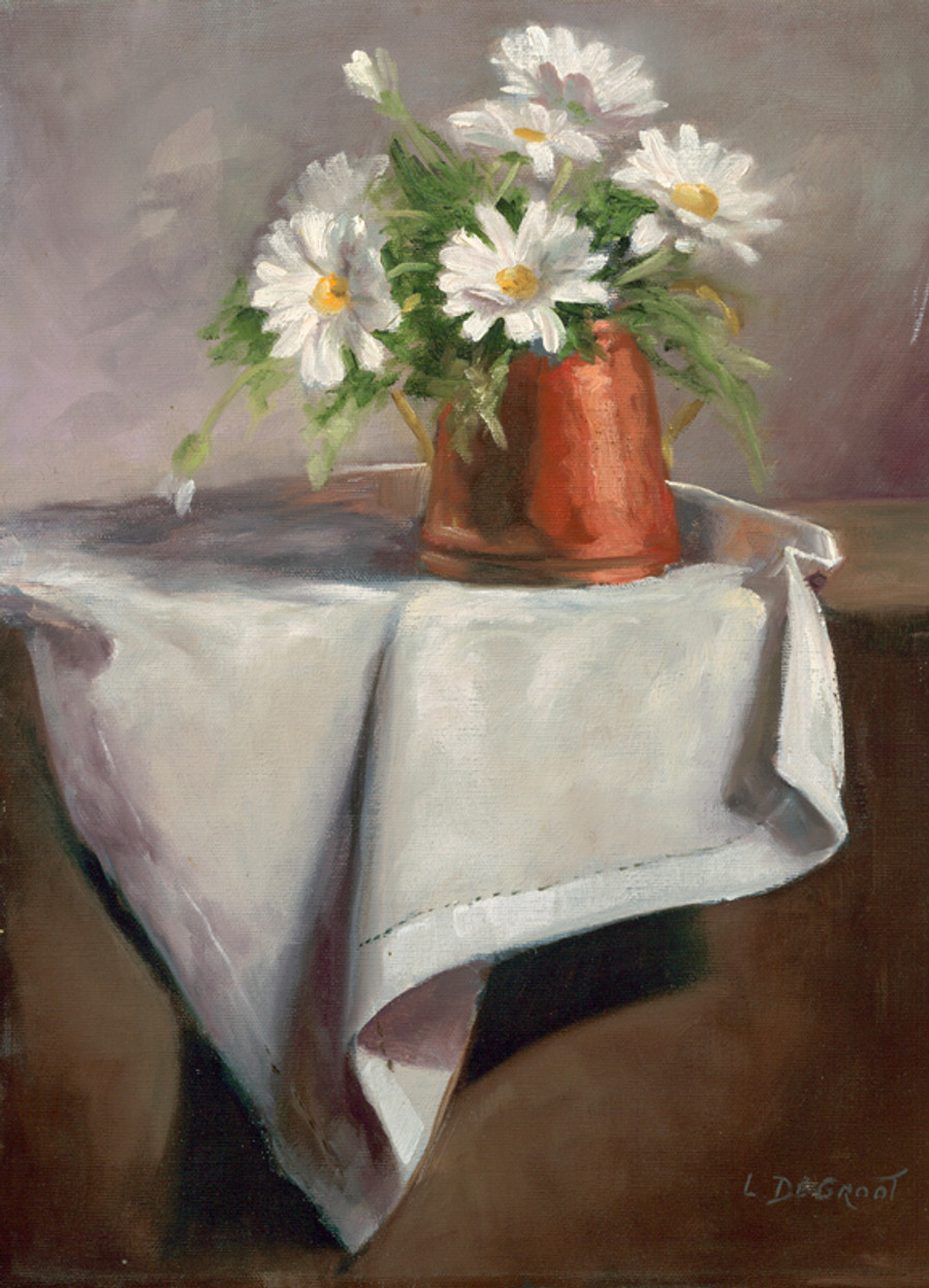 Daisies on Tablecloth