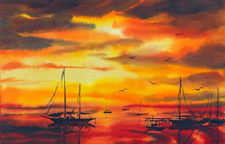 Damariscotta Maine Sunset