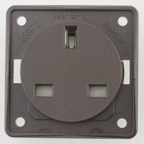 Berker 13 Amp Socket Colour Brown W4 21221B
