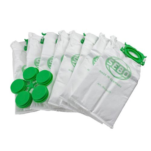 Sebo K Series Cylinder Bags 8 Pack 6629er