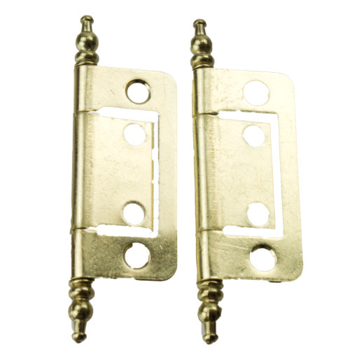 """Flush Hinge with Finials - Brass 2"""" W4 37864"""