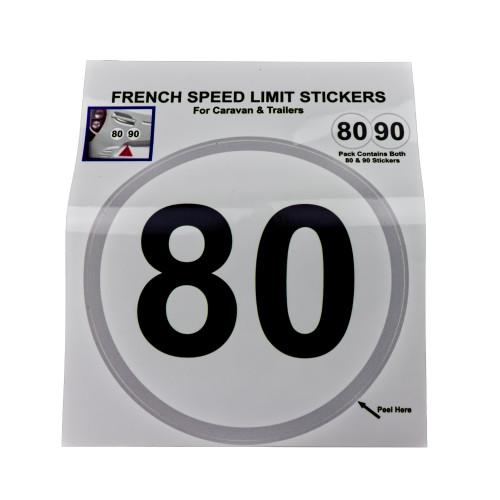 French Speed Limit Stickers W4 37130