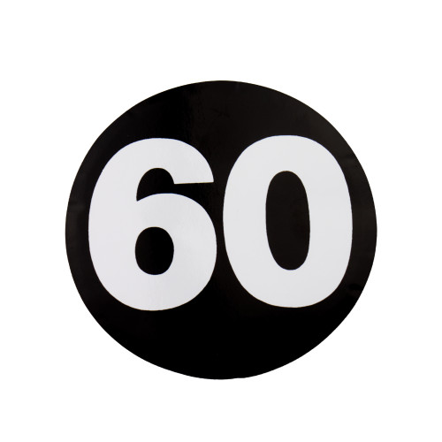 60 MPH Sticker W4 37110