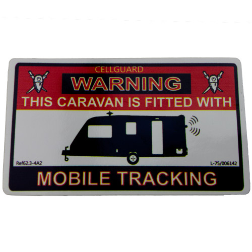 Tracking Fitted Caravan Sticker W4 37108