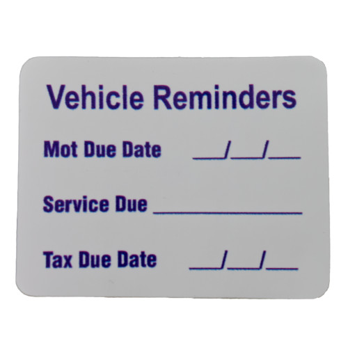 Vehicle Reminder Sticker W4 37114
