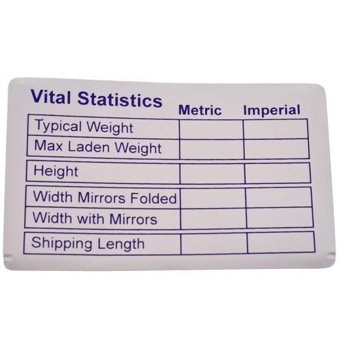 Vital Statistics Sticker W4 37115