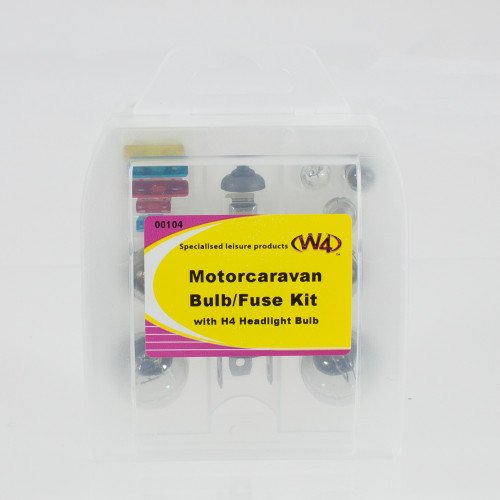 Motorcaravan Bulb Fuse Kit With H4 HeadLight Bulb W4 00104