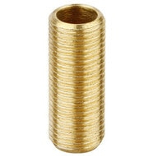 "Brass 1/2"" Allthread 1"" Long Hollow Rod 19631"