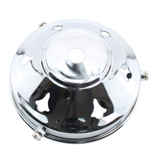 """Chrome 3 1/4"""" Gallery with 10mm hole PLU10275"""
