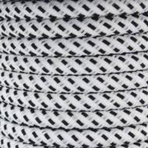 White And Black Round Fabric Cable 3 Core 2166367