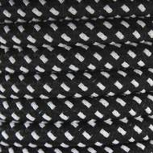 Black and White Round Fabric Cable 3 Core 2166365