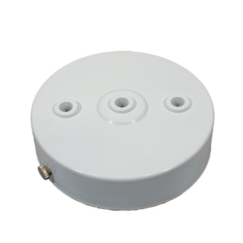 White Ceiling Rose 100mm With 3 Holes Inline 2850863