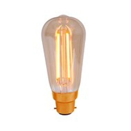 4W Led Vintage Squirrel Cage Amber BC [01461]