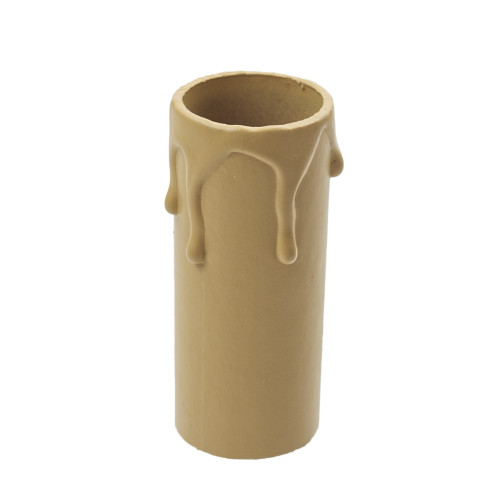 Antique Candle Tube Cover With Drip Effect 24 x 65mm [3037659]