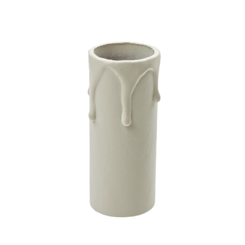 Ivory Candle Tube Cover With Drip Effect 24 x 65mm [3025802]