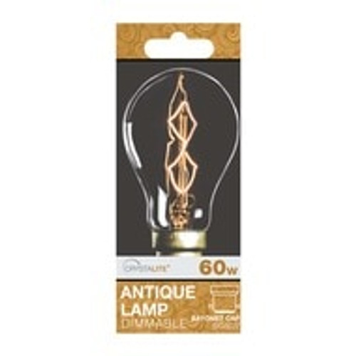 60w Crystalite Antique PS60 GLS BC Clear Z Shape Filament [3170659]