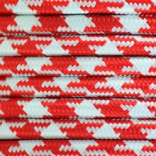 Red and White Two Tone 3 core round braided flex [3181769]
