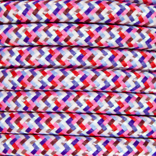 Pixel Pink Round Fabric Cable 3 Core 3146190