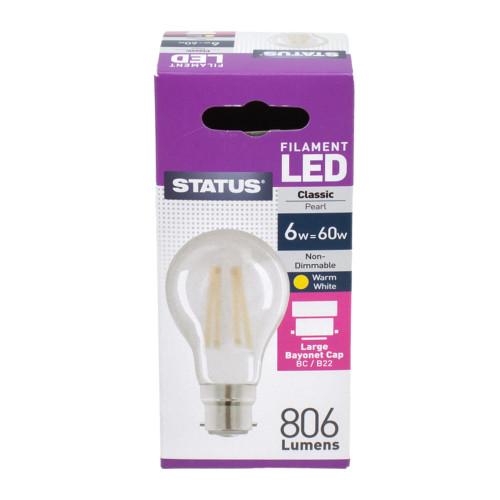 LED BC GLS 6w Pearl Filament [3174029]