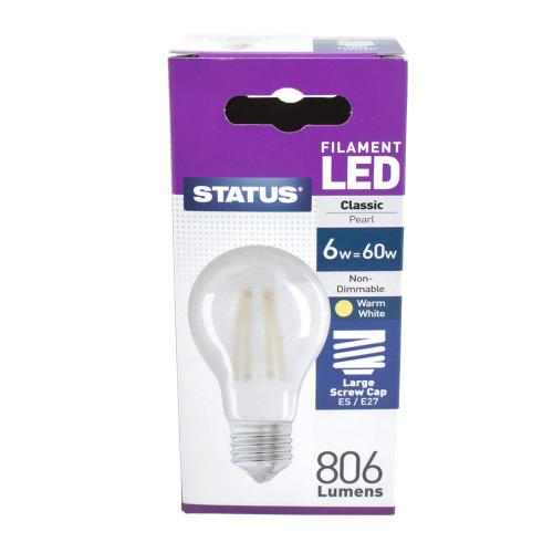 LED ES GLS 6w Pearl Filament [3174096]