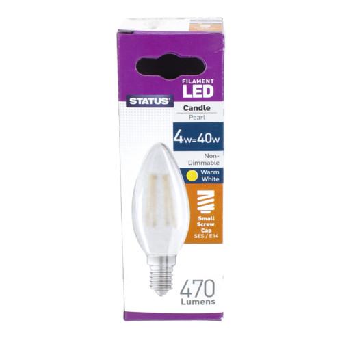 LED SES Candle 4w Pearl Filament [3173745]