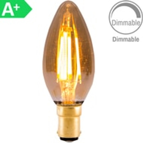 4w LED SBC Candle Amber Dimmable [3466341]