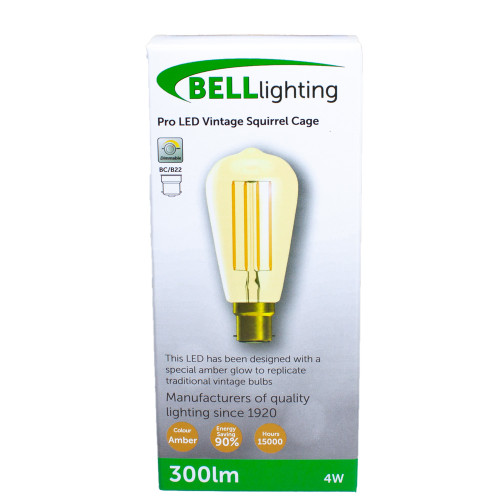 4w LED BC Squirrel Amber Dimmable [3466337]