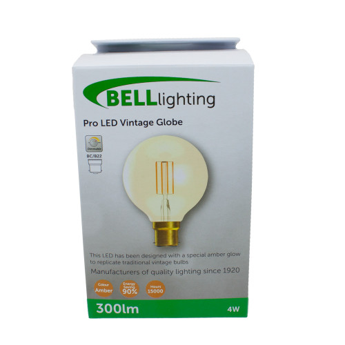 4w LED BC Globe Amber Dimmable [3466335]