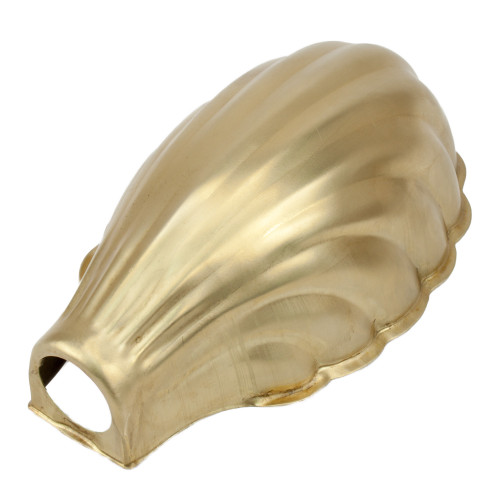 Raw Brass Clam Shell Shade 28mm Entry 3545705