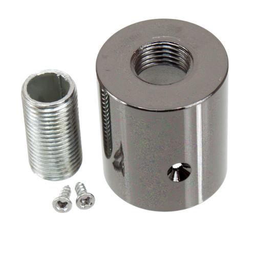 Black Pearl Metal Terminal For Braided 16mm Flexible Conduit 3574034